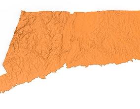 3D print model Connecticut Relief Map printer