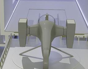 3D model sci-fi dragon spacedrone