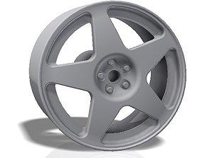 3D print model 5 spokes rim - llanta
