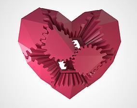 Gear Heart 3d model animated
