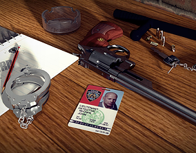 Smith Wesson Model 29 and Handcuff rigged