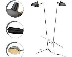 Floor Lamp Serge Mouille 3D