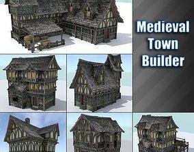 Medieval Town Builder 3D model