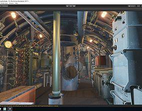 3D model Submarine With Interior Details