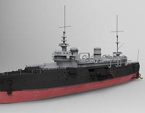 Bouvet Battleship 3D Model