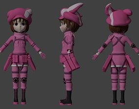 Lenn Sword Art Online alternative gun gale online 3D