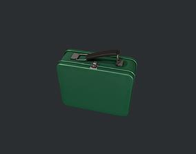 3D asset Green Tin Lunchbox
