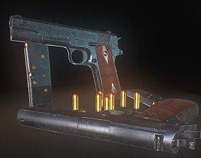 Colt M1911 3D model low-poly gun