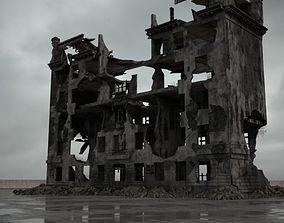 3D model destroyed building 089 am165