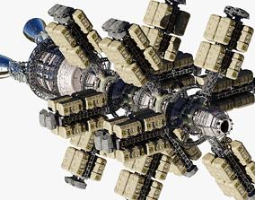 Cargo Spaceship 3D model PBR