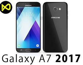 3D Samsung Galaxy A7 2017 Black