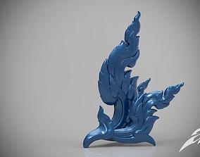 Line Kanok - Thai Art Sculpture STL OBJ 3D printable model