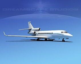 3D model Dassault Falcon 7X V14