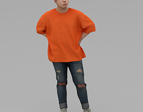 A Relaxed Young Man Posing In Akimbo Posture 3D