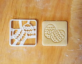 Two Easter eggs cookie cutter 3D print model