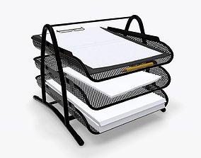 Paper mesh horizontal holder 02 3D model