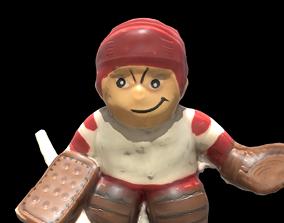 3D asset 1988 JFS Hockey Mascot Sport Keyring Toy