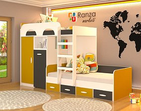 baby Kids room design 3d scene