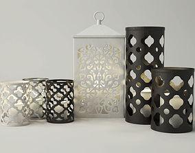 3D Cutout Candleholders