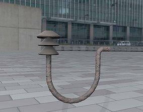 Rusty Ceramic Electricity Insulator 10 - Object 3D model