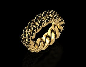 3D print model The Cuban Chain Ring V2