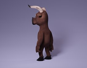 Toon Humanoid Bull 3D model