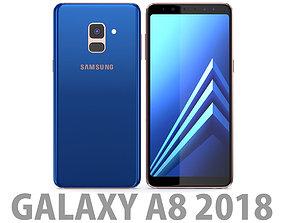3D Samsung Galaxy A8 2018 Blue