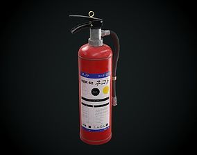 Japanese Fire extinguisher for Games 3D asset