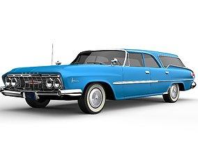 Dodge Polara Wagon 1961 3D model