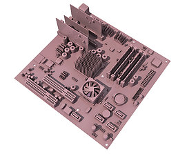 Computer Mother Board 3D