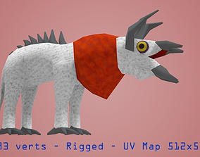 Creature 3D model rigged