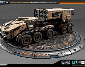 3D asset RTS Missiles Launcher - 13