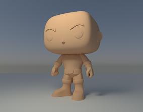 Custom Pop Bald Man Angry Figure 3D Print funkocustompop