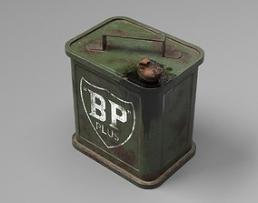 3D asset Jerry Can - Medium Size - UE4 ready - Low poly 2