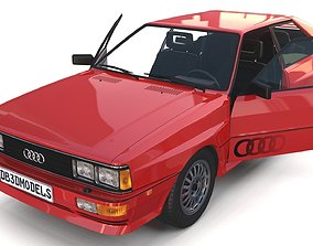 1981 Audi Coupe Quattro with interior Red 3D