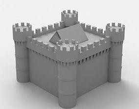 3D Medieval Castle low poly