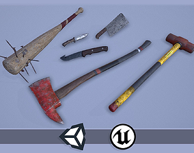 3D model Apocalyptic Melee Weapons - PBR and Game Ready