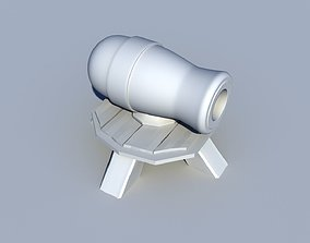 3D asset Cannon - Level 1 - Clash Of Clans
