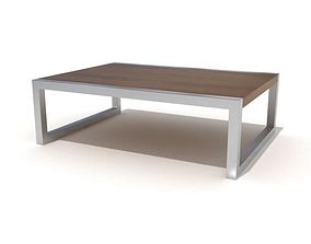 Small Brown Coffee Table 3D