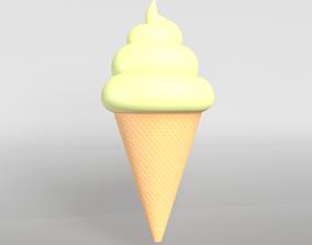 Ice cream cone v1 004 3D asset