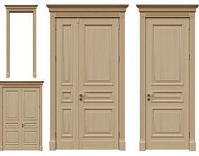 3D model Classic wood doors