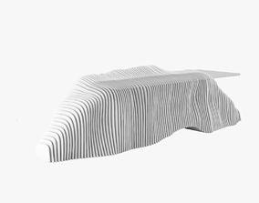 Sculptural Reception Desk 3D
