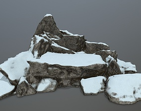 cliff rocks 3D asset game-ready