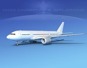 Airbus A350-800 Unmarked 2 3D