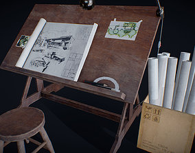 3D asset Drafting Table