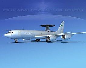 3D model Boeing E-3C AEW Royal Saudi Air Force