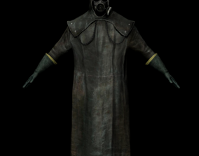 Man with radiation costume 3D model