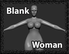 3D model Blank Woman