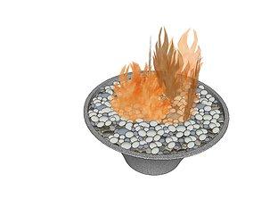 3D asset Bowl Fire Bit