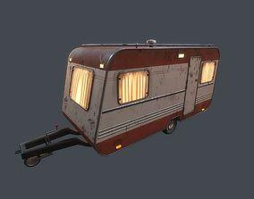Old Caravan Trailer 3D model